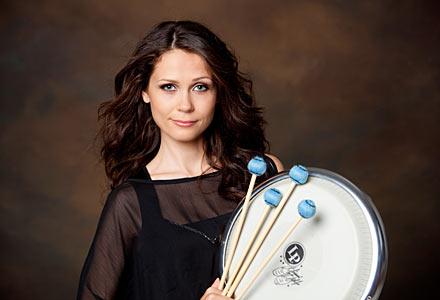ERP artist Hele-Riin Uib. Percussion
